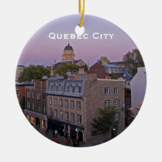 Old Quebec Cityscape Ornament