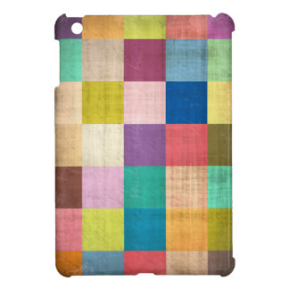 Old Quilt Colorblock Aged iPad Mini Case