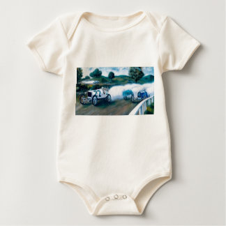 old race cars baby baby bodysuit
