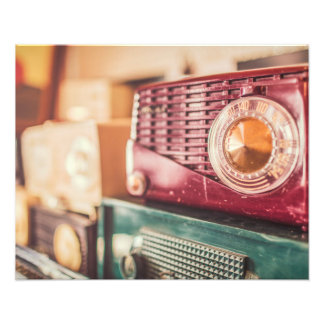 Old radios photo print