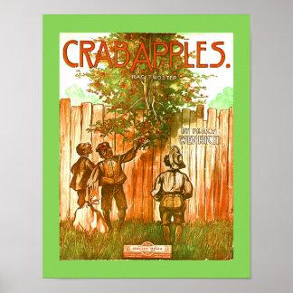 Old Rag-Time Sheet Music Cover Copy  CRABAPPLE RAG Poster