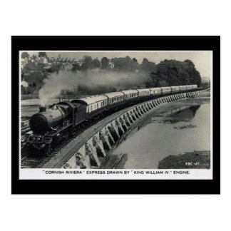 Old Railway Postcard - GWR Cornish Riviera Express