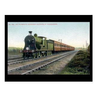 Old Railway Postcard - Plymouth Corridor Express