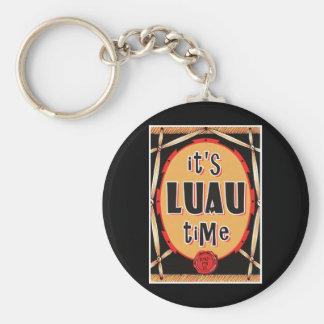 Old Rattan Luau Time Basic Round Button Key Ring
