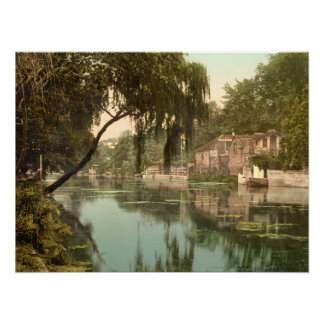 Old Reach, Thorpe, Norwich Norfolk, archival print