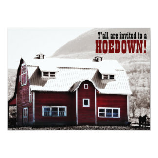 Old Red Barn Country Style Hoedown Barn Raising Card