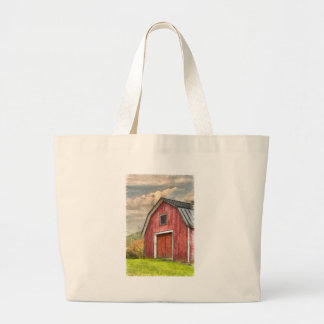Old Red Barn Watercolor Orford Jumbo Tote Bag