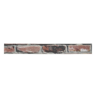 Old red brick wall ribbon satin ribbon