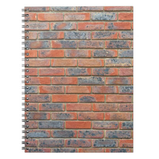 Old red brick wall texture notebook