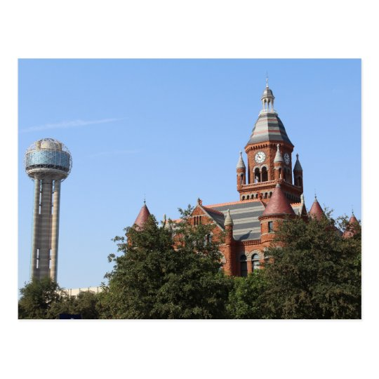 Old Red Courthouse and Reunion Tower # 2 Postcard