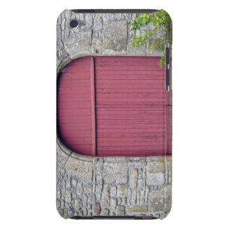 Old Red Door Against An Old Stone Wall Case-Mate iPod Touch Case