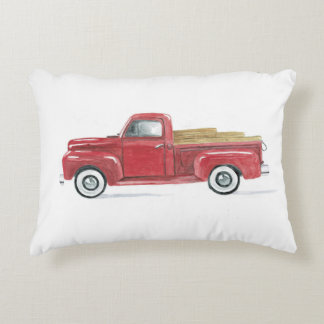 Old Red Pick Up Decorative Cushion