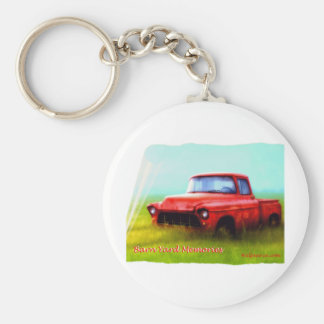 Old Red Pickup Barn Yard Memories Keychains