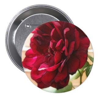 Old Red Rose 7.5 Cm Round Badge