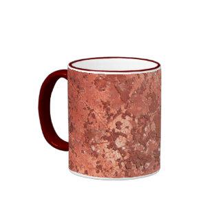 Old red wall ringer mug