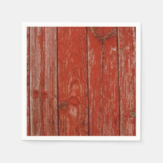 Old red wood disposable napkin