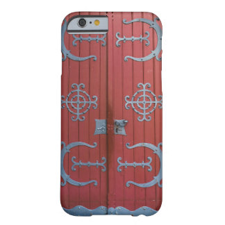 Old Red  Wood Doors With Gray Iron Supports Barely There iPhone 6 Case