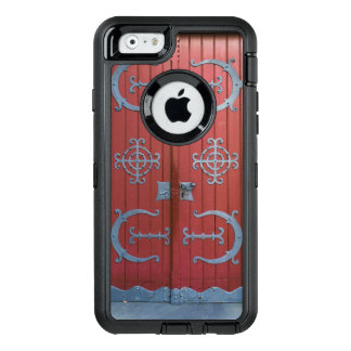 Old Red Wood Doors With Gray Iron Supports OtterBox Defender iPhone Case