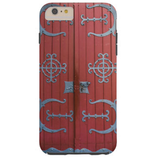 Old Red  Wood Doors With Gray Iron Supports Tough iPhone 6 Plus Case