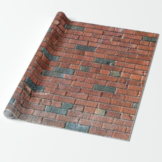 Old Reddish/Brownish Brick Wall Wrapping Paper
