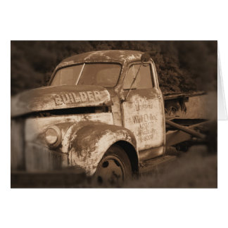Old Retired Rusty Truck photo Card