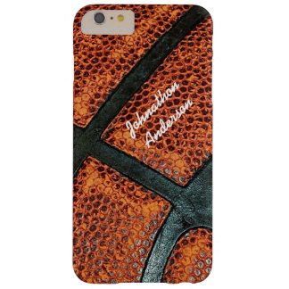 Old Retro Basketball Pattern With Name Barely There iPhone 6 Plus Case