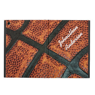 Old Retro Basketball Pattern With Name Case For iPad Air