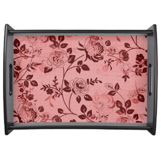 Old_Retro_Floral (c) Soft-Coral- Large- Serving Tray