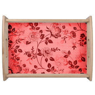 Old_Retro_Floral (c) Soft-Peach-Sangria- Large- Serving Tray
