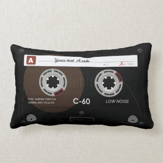 Old Retro Music Cassette MixTape Pillow Throw Pillow