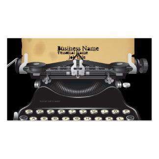 Old Retro TypeWriter Machine Business Card