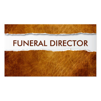 Old Ripped Paper Funeral Business Card
