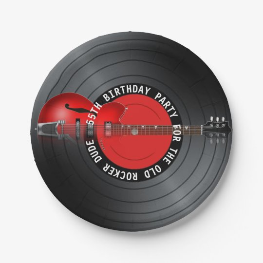 Old Rocker Dude Guitar Record 55th Birthday Party