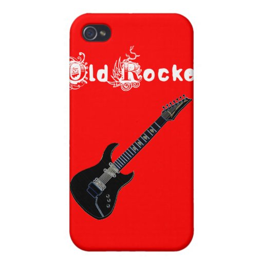 Old Rocker & Guitar Iphone 4 Case Speck Skin
