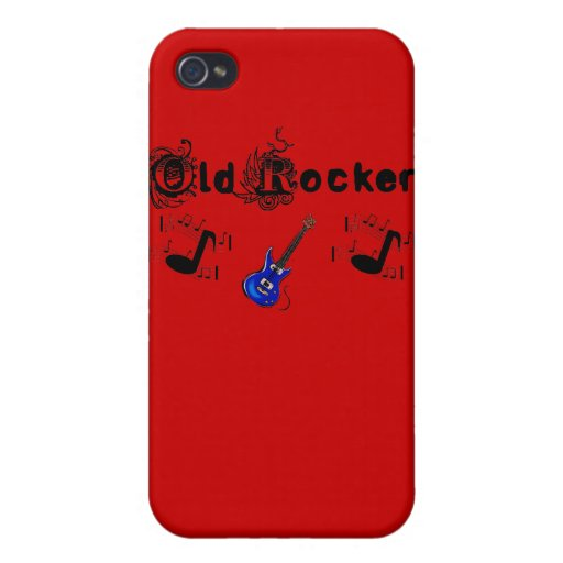 Old Rocker Guitar Notes Iphone 4 Speck Case iPhone 4 Cover
