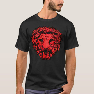 Old Roman Red Lion Gargoyle Head Graphic Tee