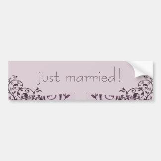 Old Rose Art Deco Wedding Bumper Stickers