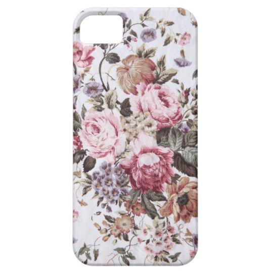 old roses vintage fabric iPhone 5 barely there Case For The iPhone 5