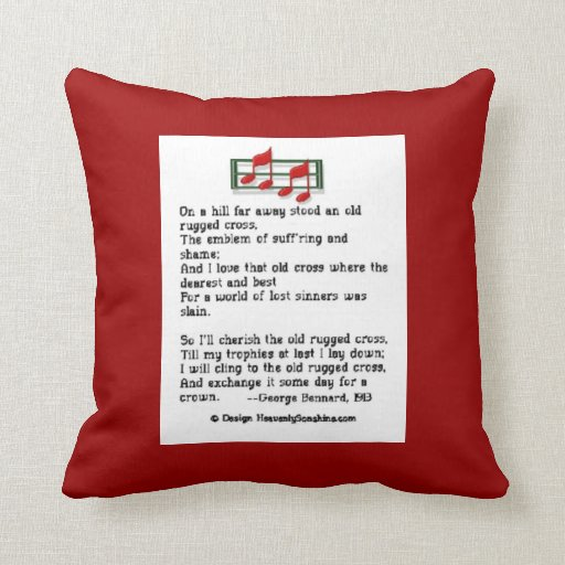 Old Rugged Cross Hymn Pillow
