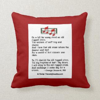 Old Rugged Cross Hymn Pillow Throw Cushion