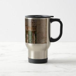 old ruins of stone travel mug