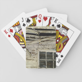 Old Run Down House Playing Cards