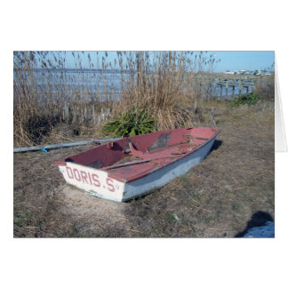 Old Rustic Row Boat Greeting Card