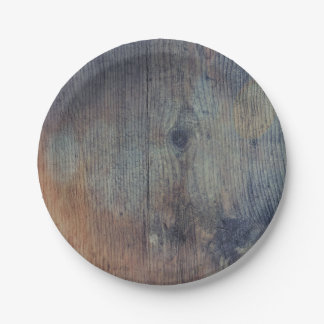 Old Rustic Wood Barn Wedding Paper Plate