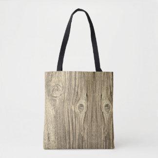Old Rustic Wood Tote Bag