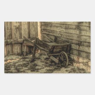 old rustic wooden wheelbarrow stickers