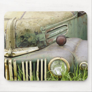 Old Rusty Truck Hood Mouse Mat