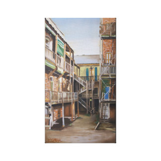 Old Sacramento oil painting Gallery Wrapped Canvas