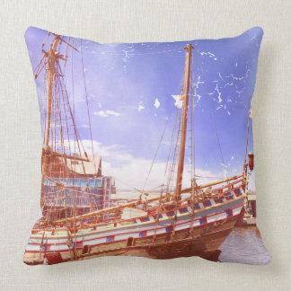 Old Sailing Ship Cushion