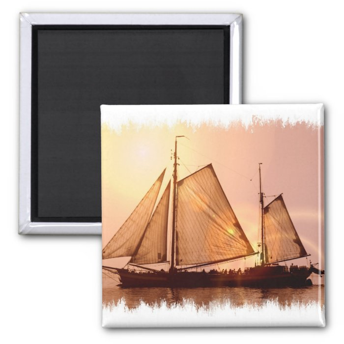 Old Sailing Ships Magnet